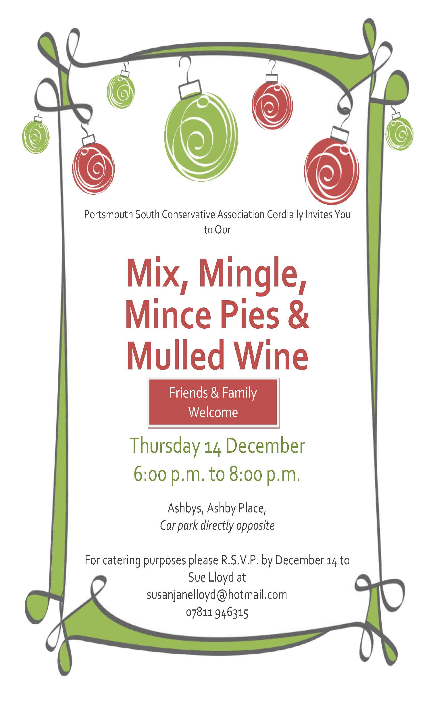 Xmas mix and mingle event